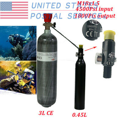 3L 4500PSI CARBON Fiber Air Tank Fill Station For PCP Set