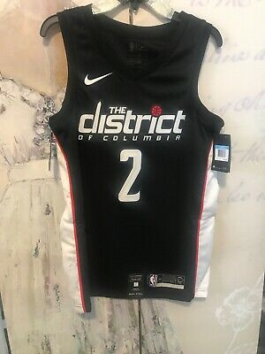 d55f7f0cff9 Nike Washington Wizards The District City Edition Mens 2 Wall Black Jersey  Med
