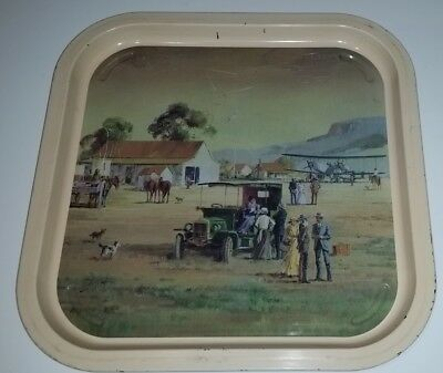 Willow Australia metal tray to suit stand, art by Robert Booth - Country Life