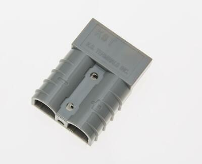 50 Amp Grey Battery Power Connectors with Cable Clamp 12-10 AWG