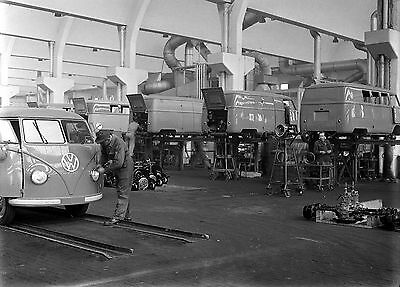 VW Bus Transporter  Production Wolfsburg 1950 8 x 10  Photograph