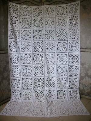 Antique Cotton /Lace  Handstitched Openwork  Cover 1900