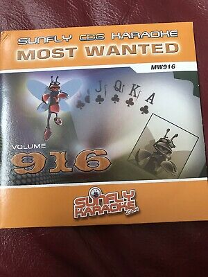 Sunfly Karaoke Cdg Disc Sf834 Most Wanted Performance & Dj Equipment