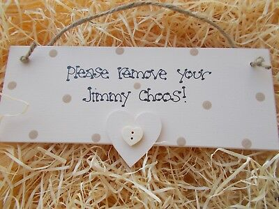 Please Remove Your Shoes Sign Home Wooden Plaque Gift