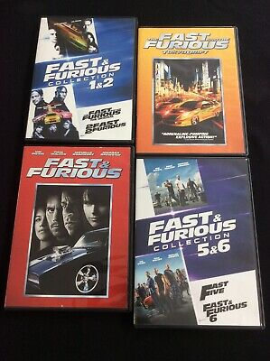 The Fast and Furious 1-6 Movie Collection 1,2,3,4,5,6 Vin Diesel Paul Walker