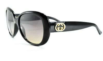 fc8a6ddba9f GUCCI Sunglasses GG 3644 s D28ED Shiny Black with Gold   Brown Gradient  Lenses