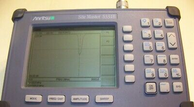 Nice Anritsu S331B Site Master with new smart Battery, New Charger Full Test!