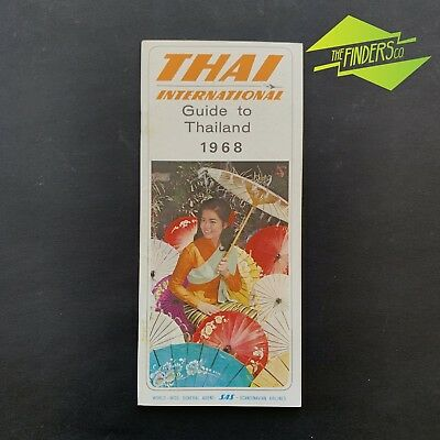 Vintage 1968 Thai International 'guide To Thailand' Travel Guide Advertisements
