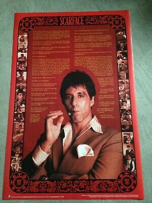"""Scarface - 24""""x36"""" poster print with movie quotes, tony montana, al pacino"""