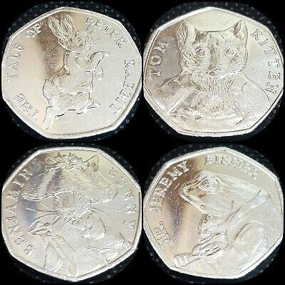 ✔Full Set or Beatrix Potter 50p Fifty Pence Coins - Tom Kitten Uncirculated 2017
