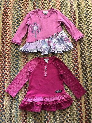 Lot Of 2 Naartjie Kids Long Sleeve Shirts Size 18-24 Months