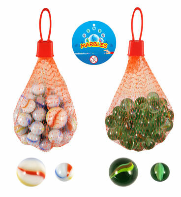 Net Of 50 Glass Marbles - Pinata Toy Loot/Party Bag Fillers Wedding/Kids