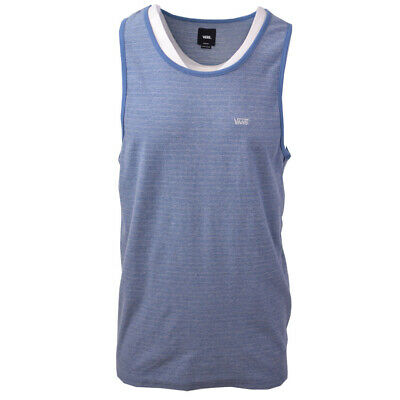 Vans Off The Wall Men's Blue Striped Sleeveless Tank Top S08 (Retail $30)