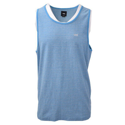 Vans Off The Wall Men's Aqua Blue Striped Sleeveless Tank Top S02 (Retail $30)