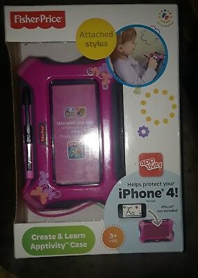Fisher-Price Create & Learn Apptivity Case Pink For Use with iPhone 4 See Descrp