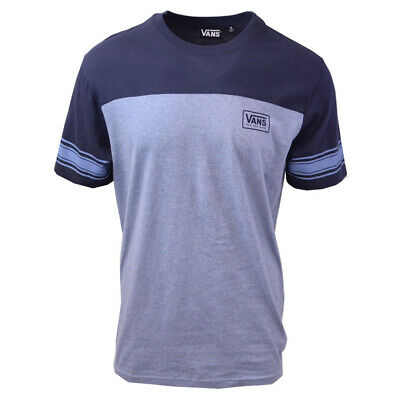 Vans Off The Wall Men's Infinity Two Tone Blue S/S Tee S06-A (Retail $34)
