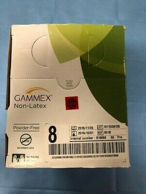 Ansell 8516 Gammex Non-Latex Powder Free sz 8 50pr