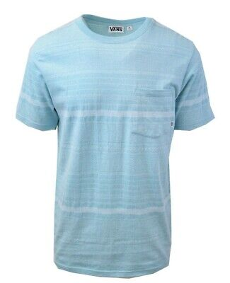 Vans Off The Wall Men's Abstract Teal Striped S/S Tee S04 (Retail $34)