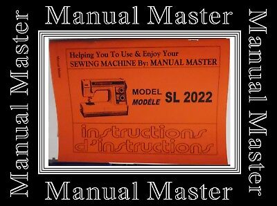 JANOME NEW HOME Model SL 2022 sewing machine instructions Manual Booklet