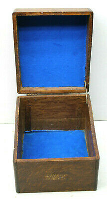 Vintage Antique Sayers Systems Wood Wooden Shiplop Rounded Corner Box 5x6x7.5""