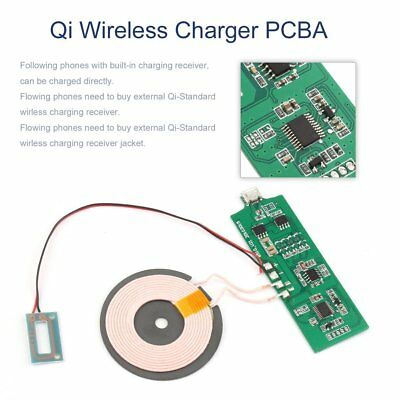 Qi Wireless Charger PCBA Circuit Board With Coil Wireless Charging DIY KU