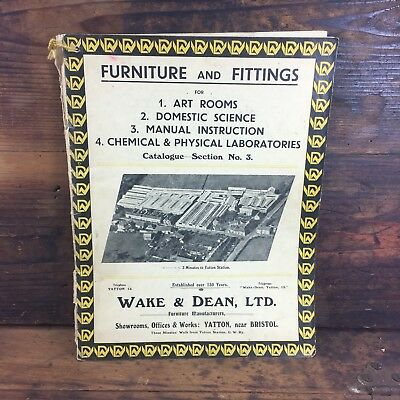 1930's WAKE & DEAN FURNITURE CATALOGUE WOODWORK METAL SCIENCE BENCHES ART ROOMS