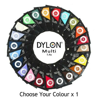 REDUCED TO CLEAR *NOT RESTOCKING* DYLON Multi Purpose Fabric Dye 5grams x 1