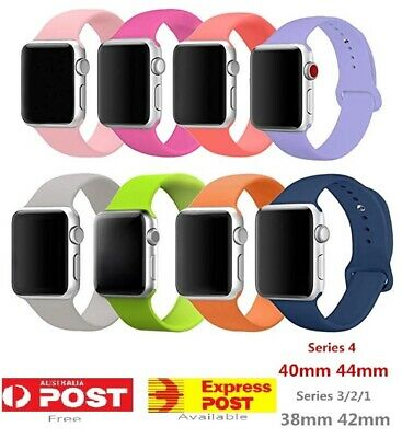 Silicone Replacement Strap Band For Apple Watch 4 3 2 iWatch 38/40mm 42/44mm