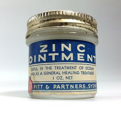 Vintage Medical Pitt & Partners Zinc Ointment Jar
