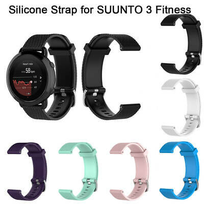 Sport Silicone Replacement Wrist Band for SUUNTO 3 Fitness Smart Watch Black
