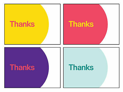 """4 Color eBay Branded 5.5"""" x 4"""" Thank You Cards 100 qty 200 qty"""