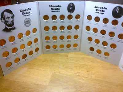 1959 - 1982 Complete BU Lincoln Cent Set in Full Color Coin Folder