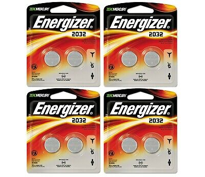 LOT OF 4 of 2-pack Energizer CR2032 BP-2 Lithium Coin Cell Battery NEW - K