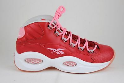 13183bd244e Reebok Question Mid Girls M44062 Scarlet Light Pink White Brand New Size 6
