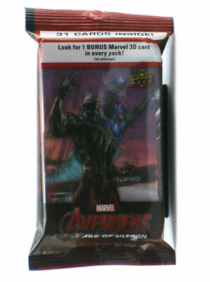 2015 marvel avengers age of ultron jumbo packet 31 cards per packet upper deck