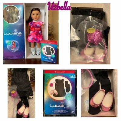 American Girl Luciana Doll & Book and Starry Night Outfit New in Box