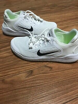 fc9fab5a5ad4 NIKE FREE RN 2018 (GS) Youth Women s Running Shoes AH3451 100 White ...