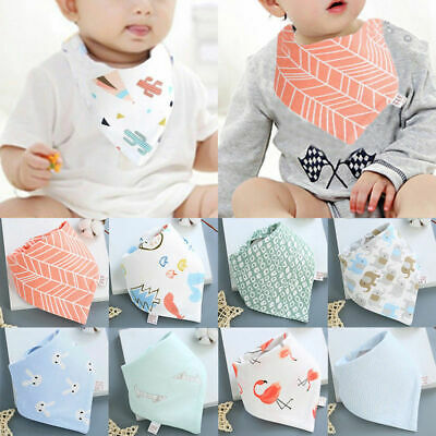 Infant Baby Boys Girls Cotton Bandana Bibs Feeding Saliva Towel Dribble Triangle