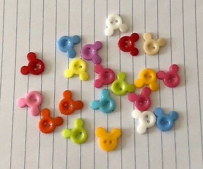 10 Mouse Head Buttons 15mm Mickey L0040 Aussie Seller
