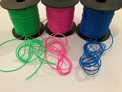 Stretchy Plastic Beading Cord Green Blue Pink 5m 10m 20m G011 Aussie Seller