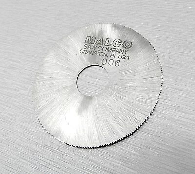 "Malco Saw Blade Jewelers Slotting Saws 2"" High Speed Circular Saw Blades 0.006"""