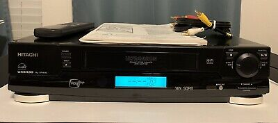 Hitachi Ultravision VHS Player VT-UX6430A, Tested, w/Remote, AV Cords, Manual