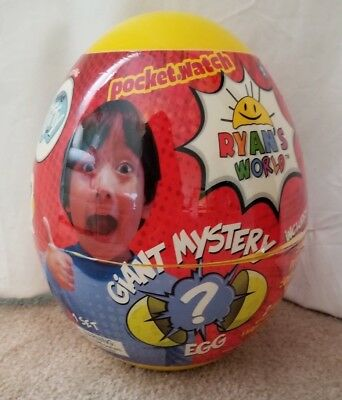 Ryan's World Yellow Giant Mystery Egg Toy NEW SEALED LABEL BROKE SEE PICS