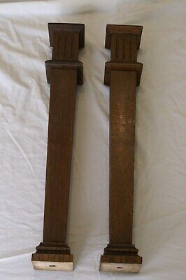 Architectural salvage decorative square wood columns