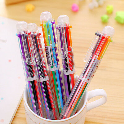 6 in 1 Colors Ballpoint Pen Multi-color Ball Point Pens For School Office Supply