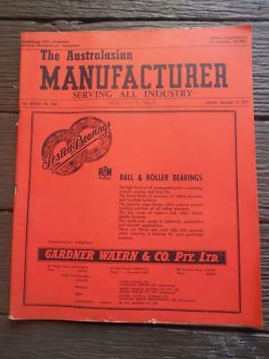 Scarce 1953 The Australasian Manufacturer newspaper Cyclone Industry Union tools
