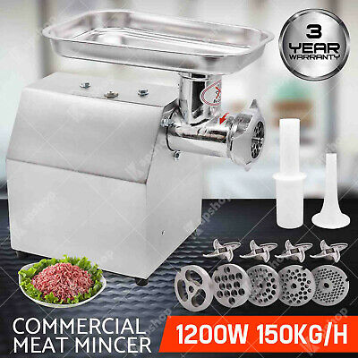 2019 NEW 1.2HP Commercial Meat Grinder Electric Mincer Sausage Filler Maker AUS