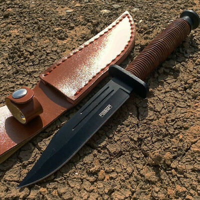 "9"" Hunting Knife Tactical Survival Combat Heavy Duty Full Tang with Sheath"