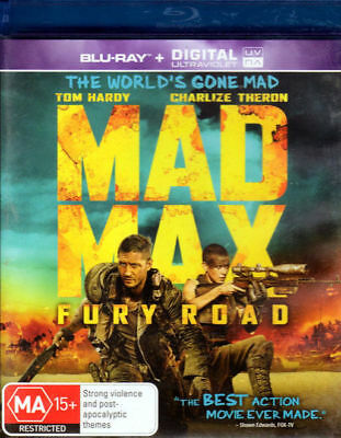 Mad Max Fury Road - Tom Hardy, Charlize Theron - Blu-ray + UV HD New Sealed