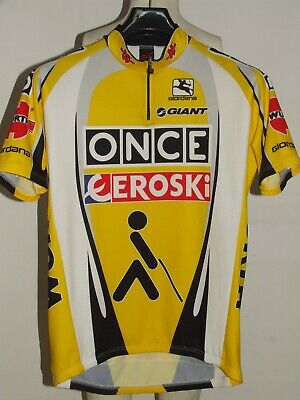 BIKE CYCLING JERSEY SHIRT MAILLOT CYCLISM TEAM ONCE EROSKI GIORDANA size XL afbd535a4